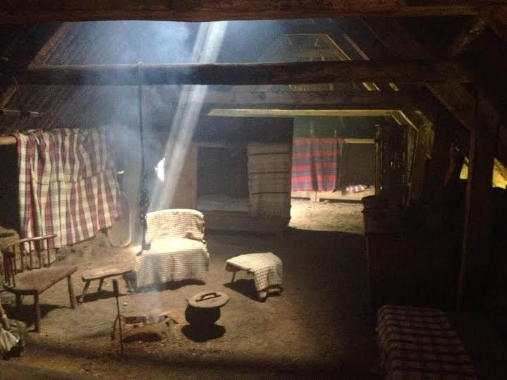 Inside home at Highland Folk Museum