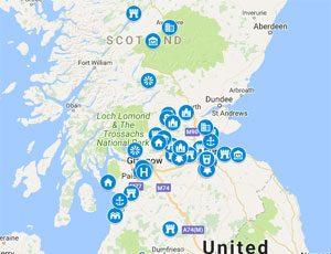 Scotland Outlander Map