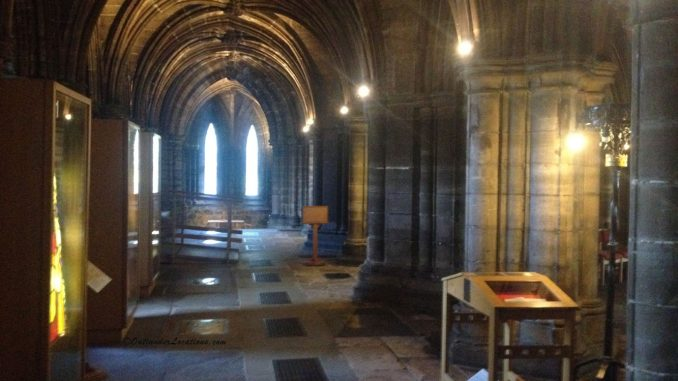Entering Glasgow Cathedral Crypt