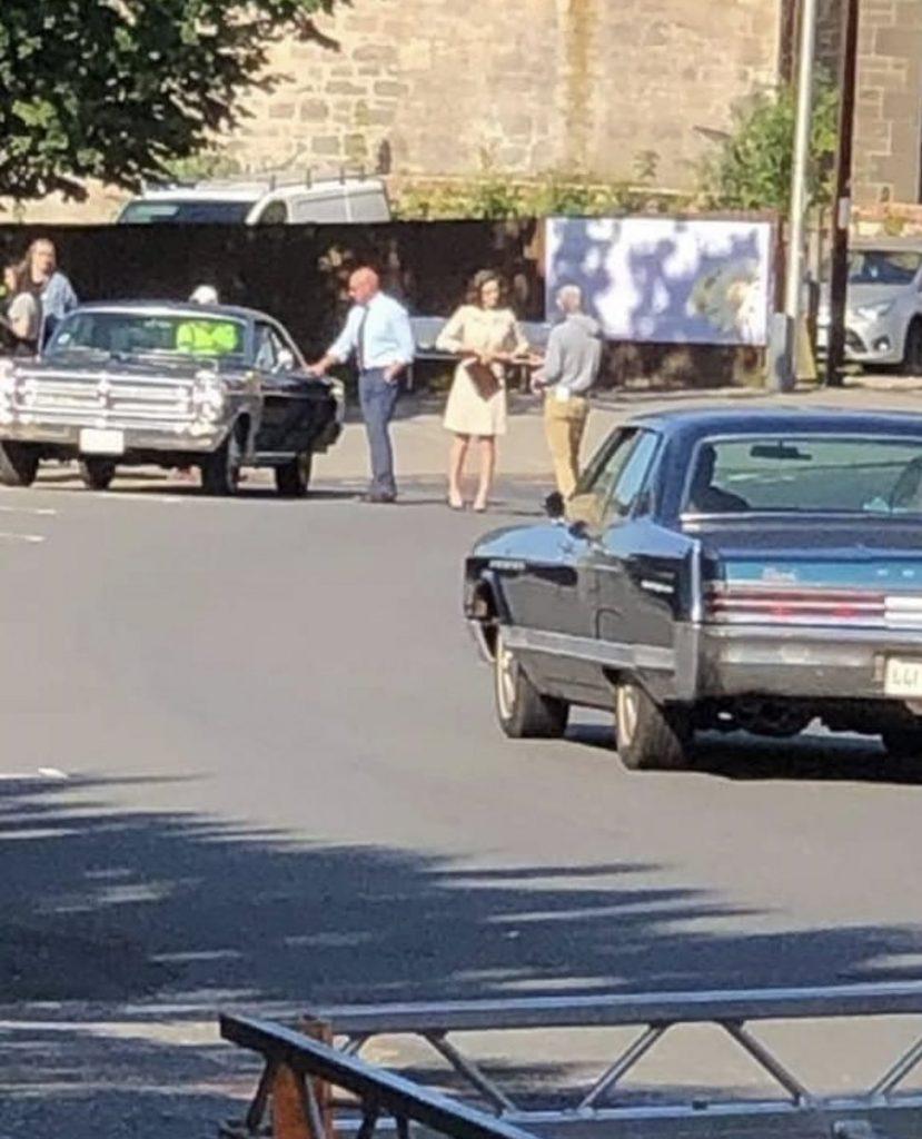 Caitriona Balfe - Outlander Filming, Paisley