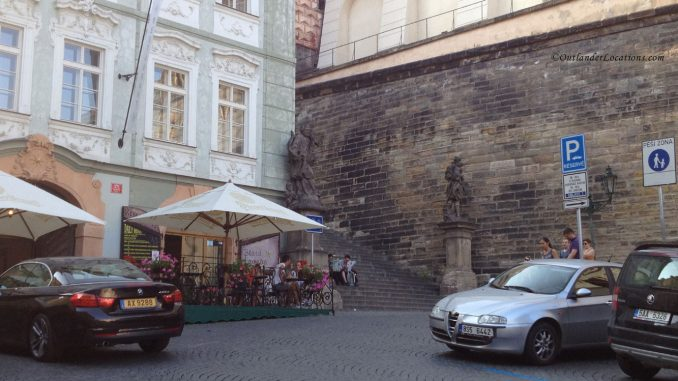 Prague Castle steps - front