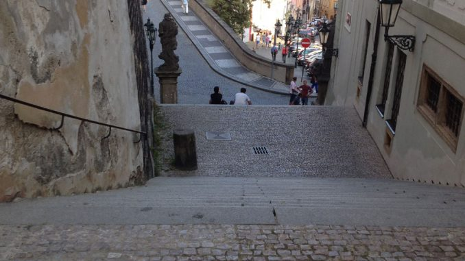 Prague Castle steps top