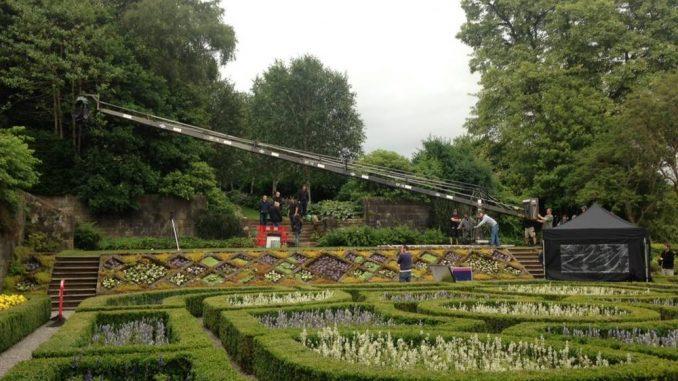 Filming at Pollok Park Gardens