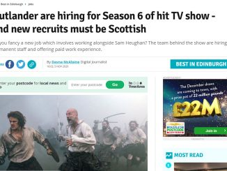 Outlander hiring for season 6 - Edinburgh Live